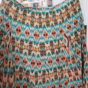 Chico's long skirt multicolor
